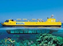 Discover the wonderful marine life of the Red Sea for 2 hours through a Submarine ride. It descends to a depth up to 22 meters where you can see different kinds of coral reefs and coloured fish. This is truly an unforgettable experience as you can watch the fish and the remarkable enviroment without getting your feet wet.